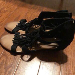 Shoes - Women's size 11 Fringe Wedge Shoe